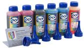 Каждый набор чернил OCP комплектуется специальными наливными носиками и гарантийным талоном на принтер
